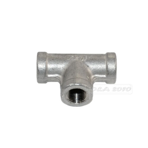 """1//8/"""" Tee 3 way Female Stainless Steel 304 Threaded Pipe Fitting NPT NEW"""