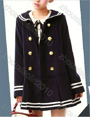Occident Sailor Lolita Coats Uniform dolly mori fairy gakuen school navy marine