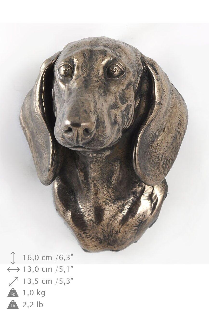 Dachshund smothhairot - dog figurine to hang on the wall, high quality, Art Dog