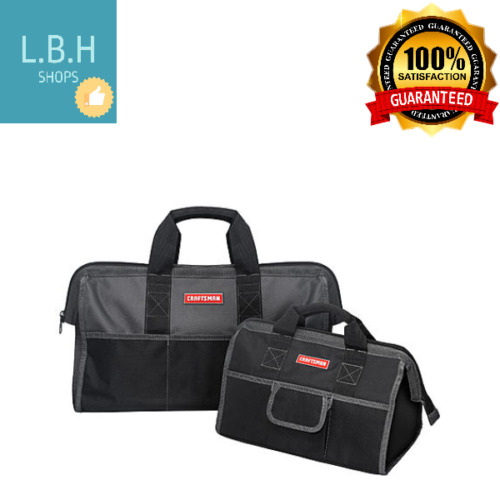 Craftsman Mechanic Tool Bag Combo 2 Piece Black Gray Storage Organizer Case New