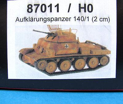 Artitec H0 87011 AUFKLÄRUNGS-PANZER 140/1 Bausatz EDW WWII Wehrmacht HO 1:87
