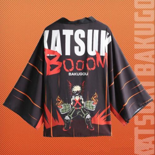My Boku No Hero Academia Midoriya Izuku Kimono Cloak T-shirt Costume CosplayProp