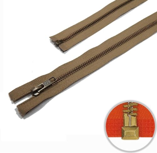 YKK Metall Reißverschluss teilbar tabak 568