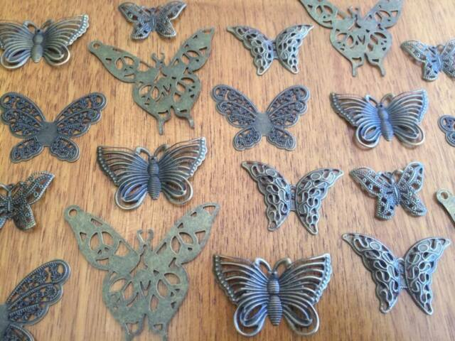 10-100 Bronze Butterfly Charms for Scrapbooking & Cardmaking