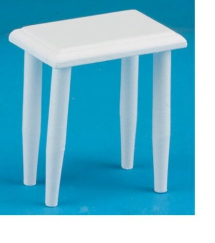 Dollhouse Miniatures 1:12 Scale Side Table White #CLA10304