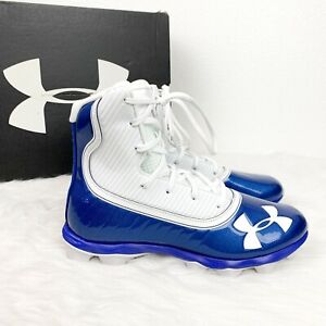 Under-Armour-Men-039-s-6-5-Blue-Highlight-RM-Football-Cleats-Lightweight-Ankle-Cage