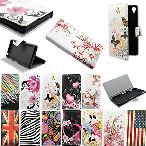 Leather-Card-Slots-Flip-Wallet-Stand-Case-Cover-Protective-For-Many-Mobile-Phone