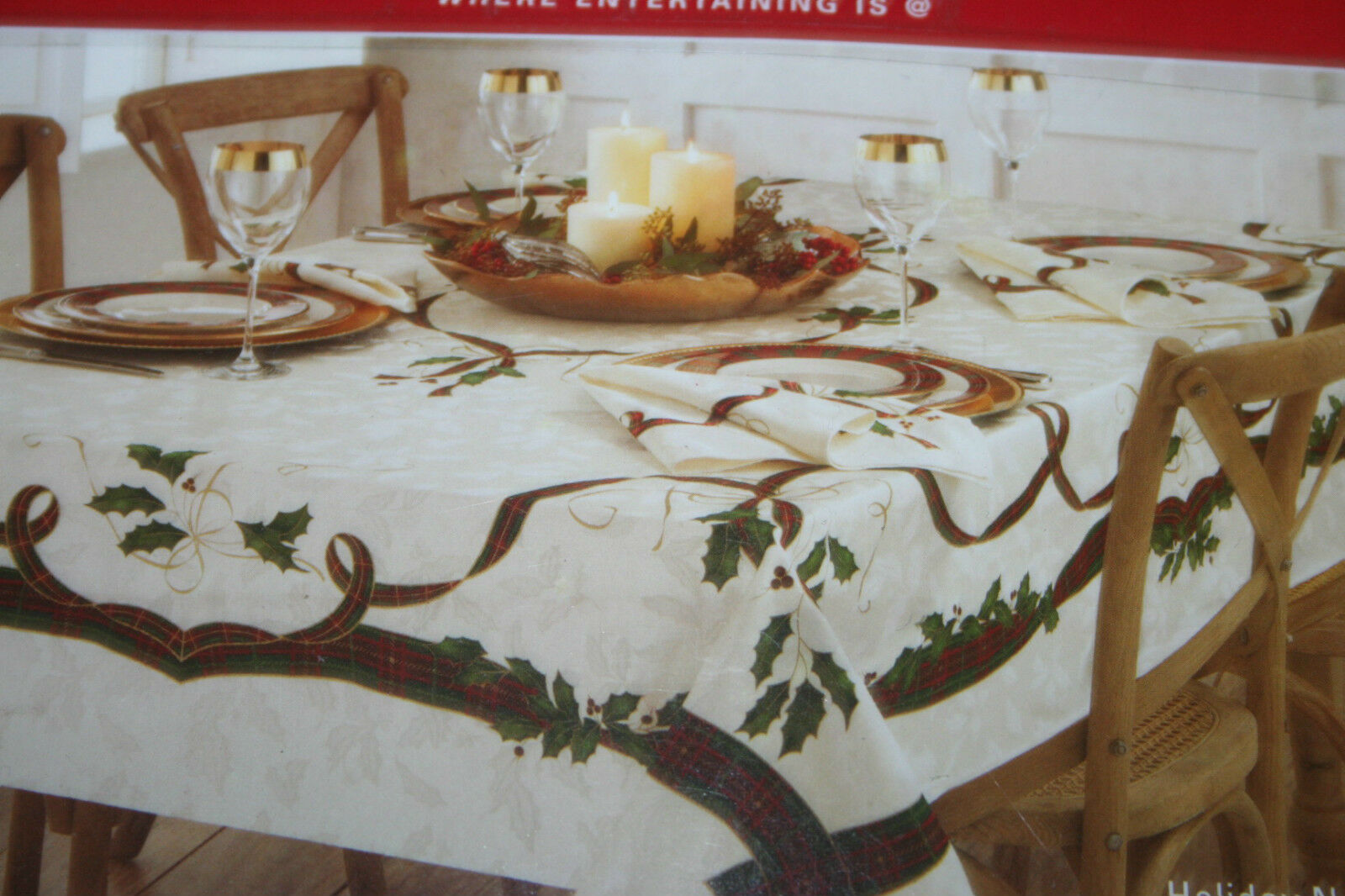 Lenox Holiday Nouveau NATALE TOVAGLIA, Panno Da Tavola 152 x 264 cm