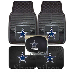 Dallas Cowboys Car Truck Floor Mats With Embroidered Head