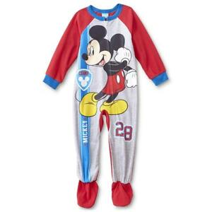 904c1a379 NEW Disney Mickey Mouse Toddler Boys  One-Piece Footed Pajamas ...