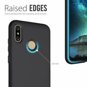 BLU-VIVO-XI-Case-Durable-Dual-Layer-Drop-Protective-Hard-Cover-Slim-Fit-Black