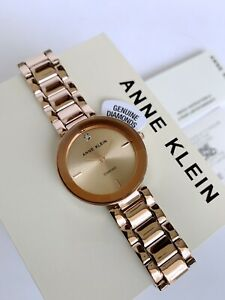 Anne Klein Watch * 1362RGRG Diamond Rose Gold Steel for Women COD PayPal