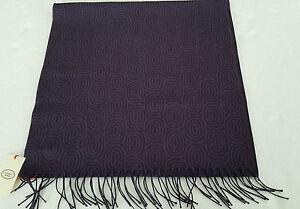 taglia 40 beeb9 ab686 Dettagli su CAMERUCCI sciarpa uomo viola/grigio 100 % lana MADE IN ITALY