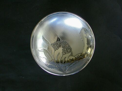 DON SHEIL FOOTED DISH WITH WARATHA PATTERN ANODISED ALUMINIUM MELBOURNE