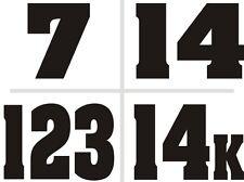 Custom Racing Number Plate Vinyl Decals Dirt Bike Moto Mx Atv Motocross