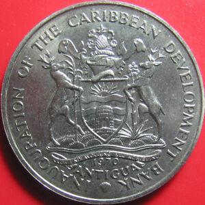 1970-ANTIGUA-4-FAO-BANANA-TREE-BRANCH-CARIBBEAN-DEVELOPMENT-BANK-RARE-no-silver