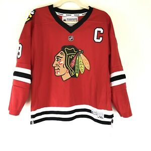Chicago-Blackhawks-Jonathan-Toews-NHL-Reebok-Red-Hockey-Jersey-Youth-L-XL