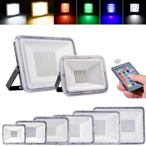LED Strahler Fluter Außen Scheinwerfer Flutlicht UltraDünn 10W 20W 30W 50W 100W