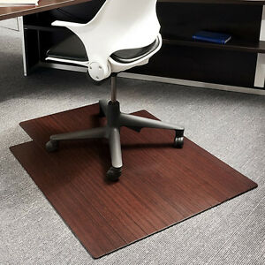 office chair wood floor mat pad desk computer hard tile area carpet