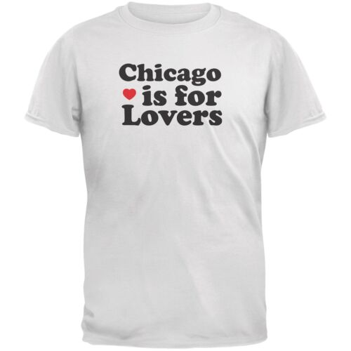 Chicago Is For Lovers White Adult T-Shirt