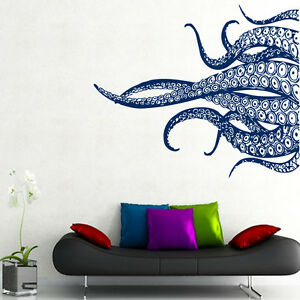 Image Is Loading Octopus Wall Decal Tentacles Vinyl Sticker Bathroom Decor