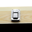 Natural-Wood-Glass-Top-Lid-Black-Pad-Display-Box-Case-Medals-Awards-Jewelry-Knif miniature 3
