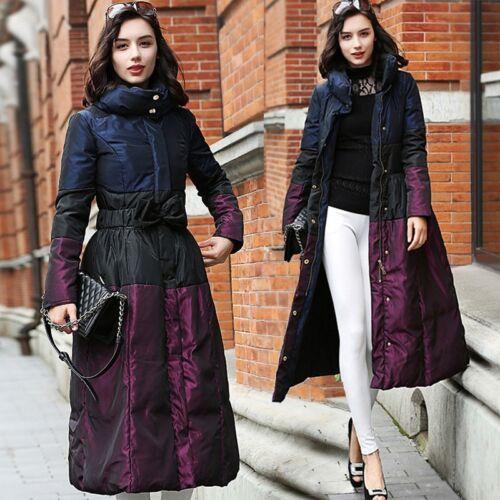 Maxi Women/'s Super Long Duck Down Coats Overcoats Warm Jackets Winter Outerwear