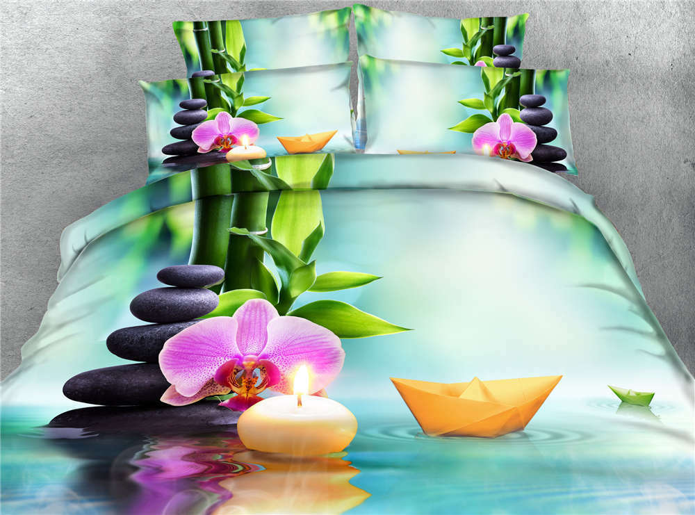Paper Boats Water 3D Printing Duvet Quilt Doona Covers Pillow Case Bedding Sets