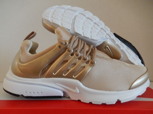 buy popular ae760 b0a6d NIKE AIR PRESTO PREMIUM METALLIC GOLD- BLUR-WHITE SZ 10  848141-900