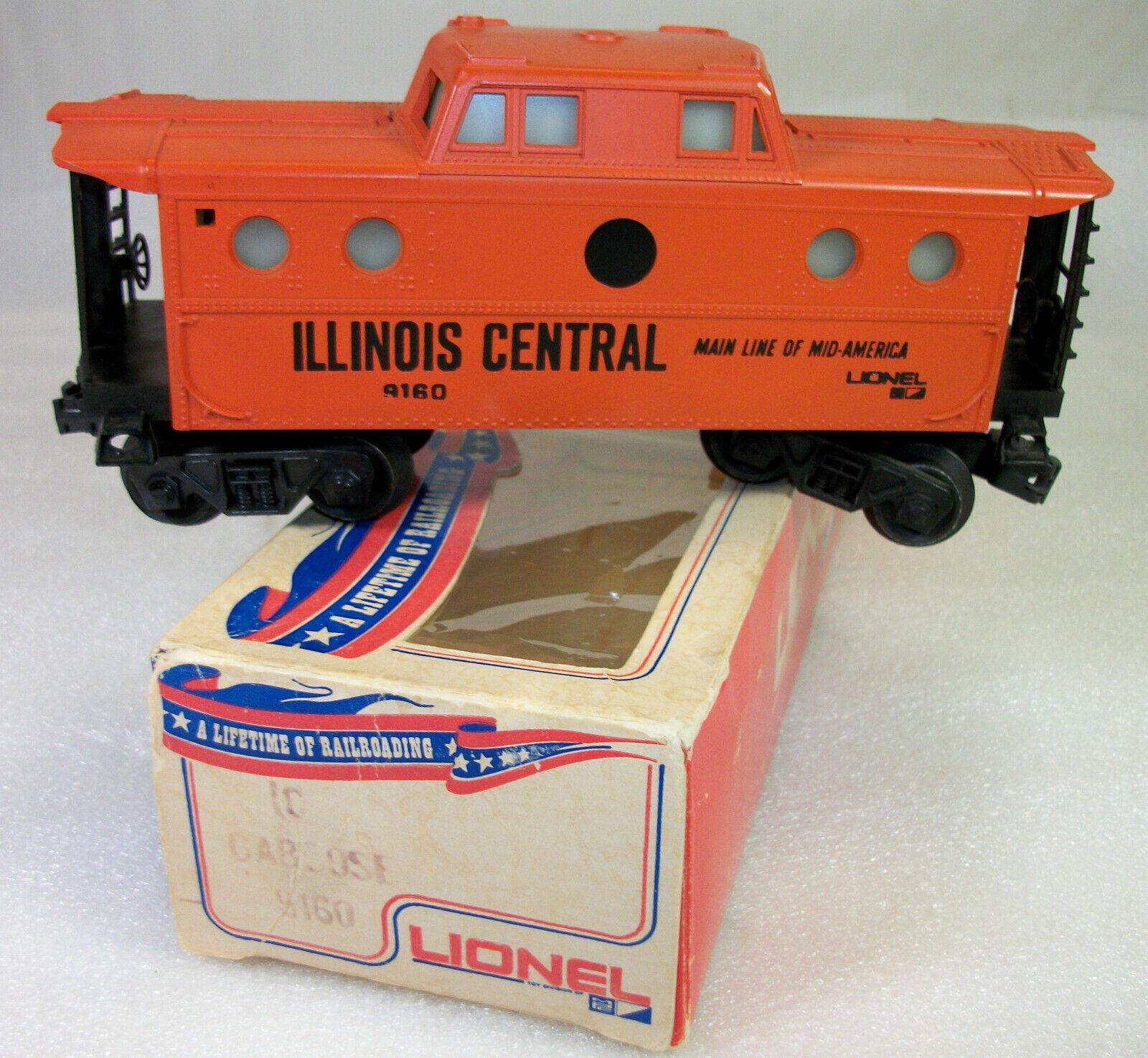 Lionel 9160 Rare variation Illinois Central furgón de cola no  IC  en punto negro C-9 ob