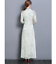 Women-039-s-Chinese-Style-Slim-3-4-Sleeve-Floral-Retro-Long-Qipao-Cheongsam-Dress-US thumbnail 11