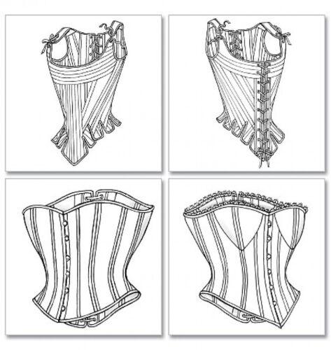 Butterick Damas patrón de costura 4254 Disfraz histórico permanece /& Corsets ...
