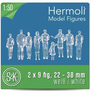 18-Hermoli-Modell-Figuren-stehend-Kunststoff-1-50-ca-Spur-0-weiss-o-transparent