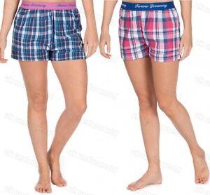 Ladies Checked Pyjama Shorts Womens Adults Night Sleep Lounge ...