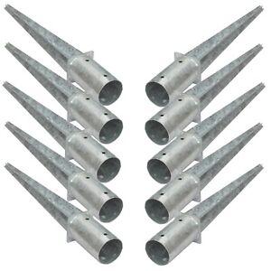 10x 80 mm Rundpfosten-halter Hülsen Einschlag-hülse Bodenhülse Holzpfosten-anker