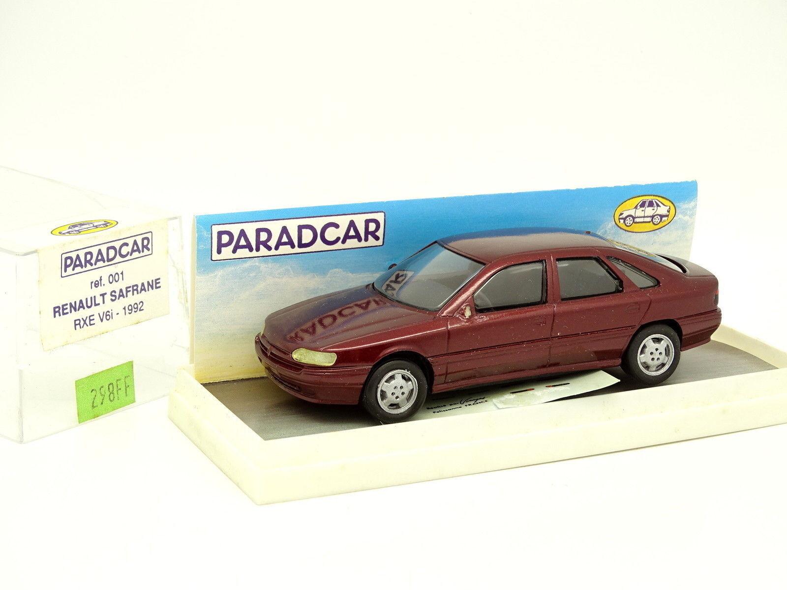 Paradcar Resin 1 43 - Renault Safrane rxe v6 Red