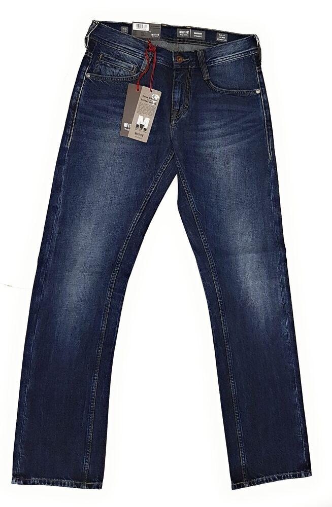 Mustang Homme Jeans Oregon Slim Low Straight 1005618 Jeans Pantalon Neuf Jn3 5