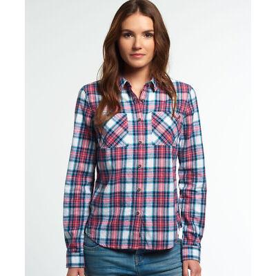 New Womens Superdry Lumberjack Twill Shirt Agnetha Check
