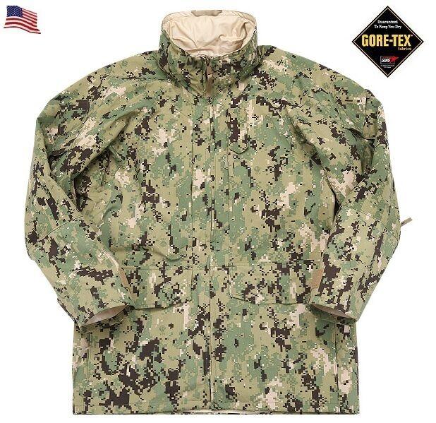 US Navy Nwu Goretex Parka Type III aor2 Woodland Giacca SXS Small x Short