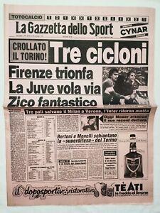 GAZZETTA-DELLO-SPORT-23-1-1984-AVELLINO-FIORENTINA-JUVENTUS-UDINESE-ZICO-MOSER