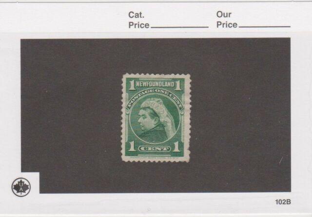 Newfoundland #55 - Queen Victoria (Green) 1c - MH - 1897
