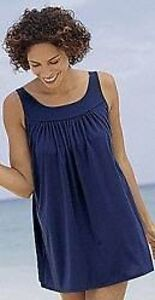 ec8024118cf75 3769 PLUS SIZE Flowy NAVY 2 Pc Swimdress Swimsuit 16W 38W NWOT! | eBay