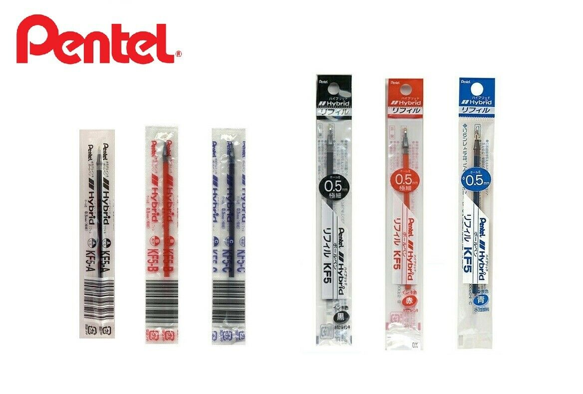 Pentel Hybrid EK105 Gel Ink Ballpoint Pen 0.5mm Choose from 3 colors