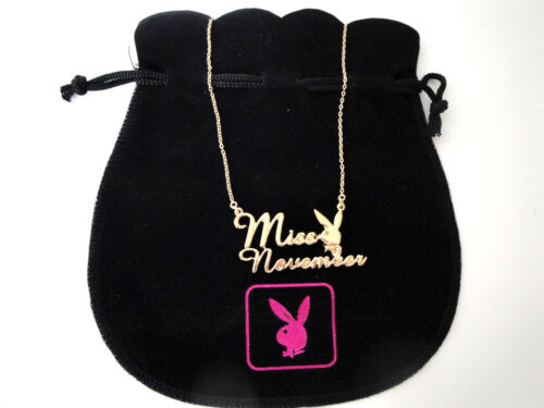 Playboy Playmate of the month Gold plated Girls Birthday Womens Ladies Necklaces