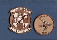 Vs-22 Checkmates Us Navy Lockheed S-3 Viking Anti Submarine Squadron Patch Set