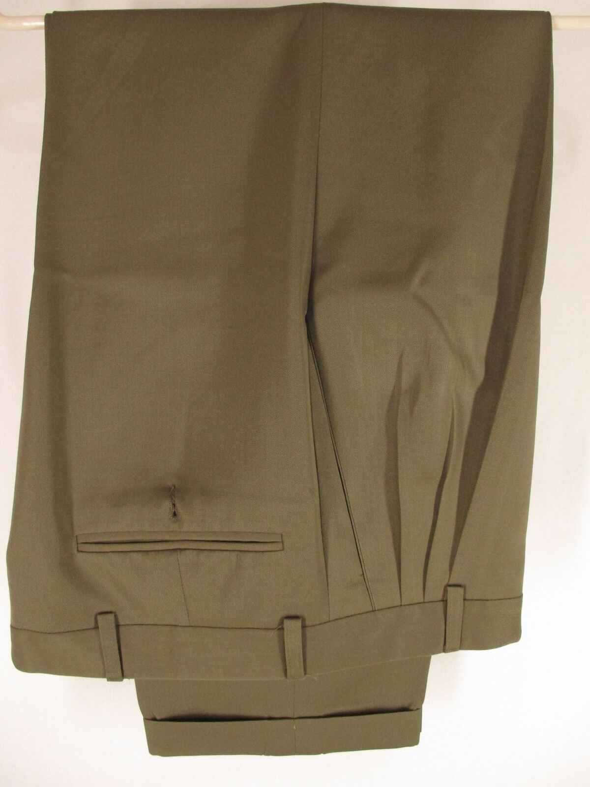 Zanella Mens Tan Pleated Wool Dress Pants Size 29 31x27