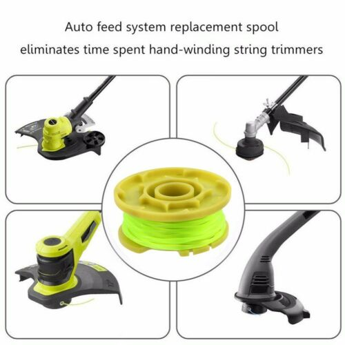 AC80RL3 Replacement Spool Twisted Line 0.08inch 11ft Y 12PCS For Ryobi One PLUS