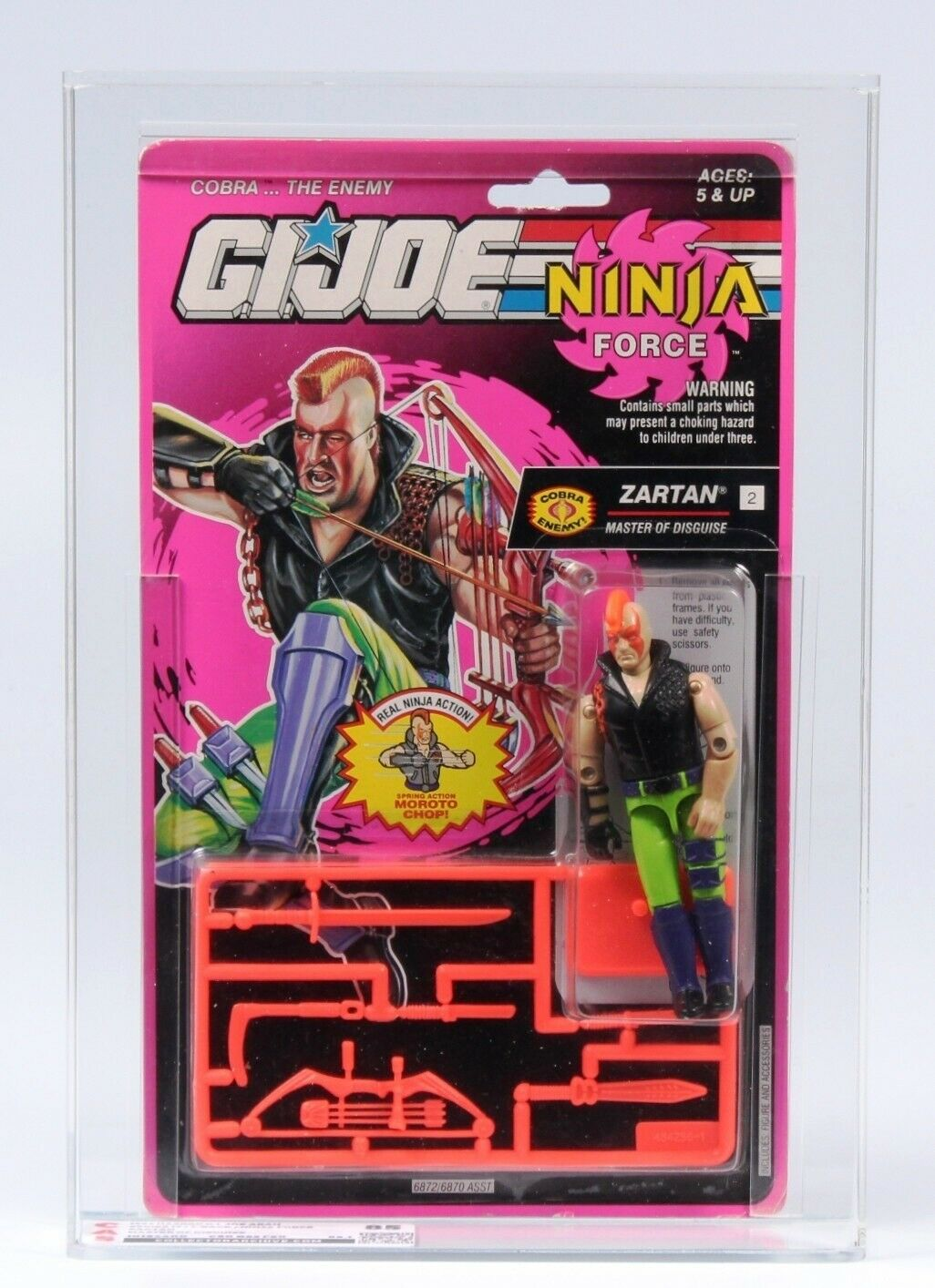 1993 Hasbro GI GI GI JOE ARAH Ninja Force Zartan CAS Graded 85+ 78f59b