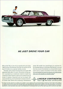 LINCOLN CONTINENTAL 62 RETRO A3 POSTER PRINT FROM ADVERT 1962