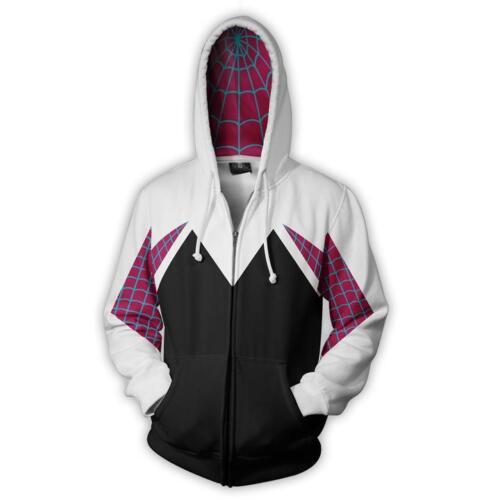 Spider-Man Womens Into the Spider-Verse Gwen Stacy Hoodie Sweatshirt Jacket